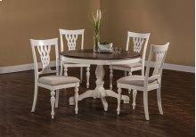 Bayberry / Embassy 5-piece Round Dining Set - White