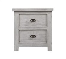 2 Drawer Nightstand W/outlet-grey Finish