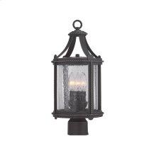 """8"""" Post Lantern in Artisan Pardo Wash"""