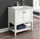 "Shaker Americana 30"" Open Shelf Vanity - Polar White Product Image"