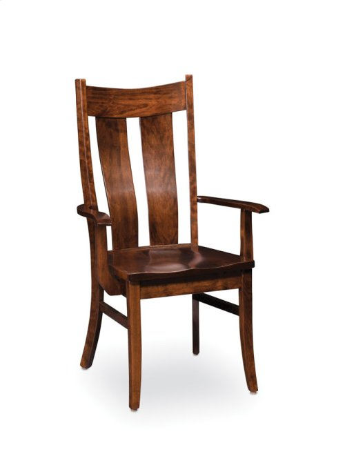 Corbin Arm Chair, Wood Seat
