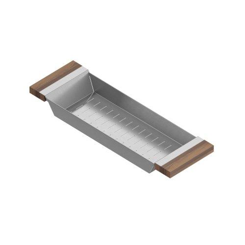 Colander 205219 - Stainless steel sink accessory , Walnut