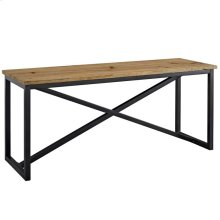 Traverse Pine Wood and Steel Stand in
