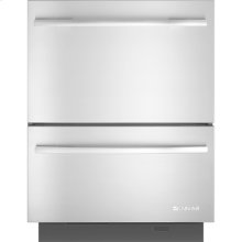 Double Drawer Dishwasher, Euro-Style Stainless Handle