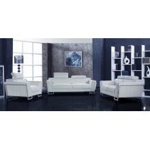 Divani Casa Grace White Leather Sofa Set