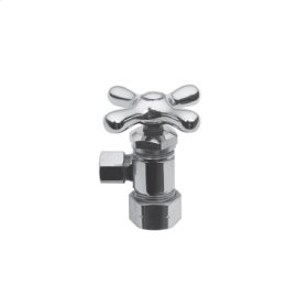 "Polished Nickel - Natural Angle Valve, 1/2"" Compression"