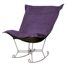 Scroll Puff Rocker Bella Eggplant Titanium Frame