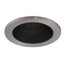 TRIM,4IN STEPPED BAFFLE AIR PROOF - Satin Nickel