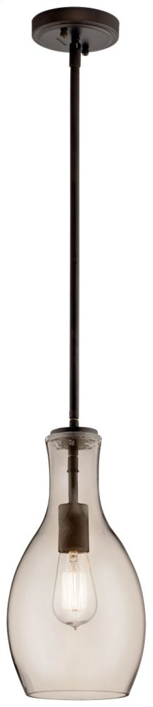 Everly 1 Light Pendant Olde Bronze® with Champagne Glass
