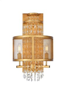 """Legacy Collection Wall Sconce D12"""" H21"""" Golden Iron Finish"""