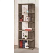 Contemporary Weathered Grey Five-shelf Bookcase Product Image