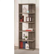 Contemporary Weathered Grey Five-shelf Bookcase