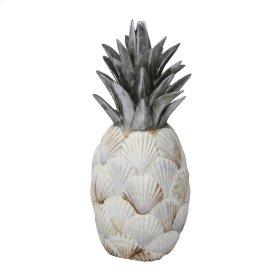 Resin Sea Shell Pineapple, Multi