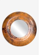 (LS) Burnt Copper Finished Metal Convex Mirror (27.5x27.5x1.75) Product Image