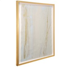 Lawrence Crain III  36in X 46in  Hand Painted Abstract on Water Color Paper  Framed Under Glass