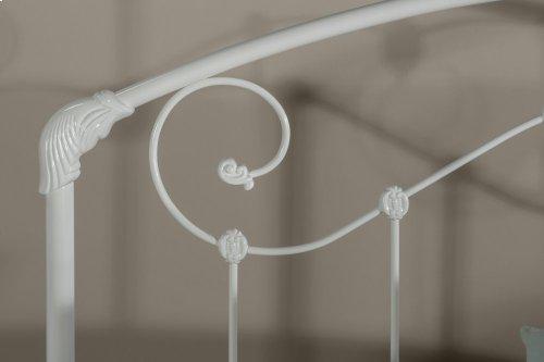 Maddie King Headboard With Rails - Glossy White