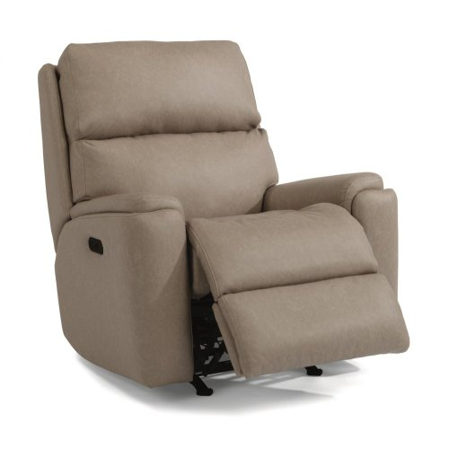 Rio Fabric Power Rocking Recliner with Power Headrest
