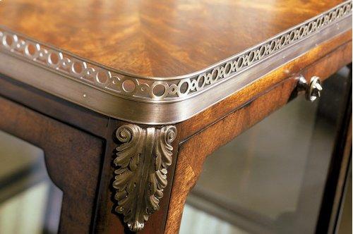 Pierced Vitrine Side Table