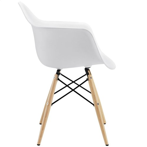 Pyramid Dining Armchair in White