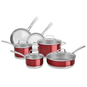 KitchenAidStainless Steel 10-Piece Set - Candy Apple Red