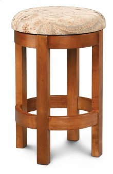 "Barrel Swivel Barstool, Cushion Seat, Barrel Swivel Barstool, 18""h, Fabric Seat"