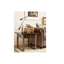 Austin by Rachael Ray Square End Table w/ Metal Accent