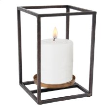 Cube Pillar Candle Holder Small