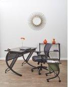 Horizon 3 Shelf Bookcase With Black Powder Coated Metal Frame & Bronze Tempered Glass Shelves. Product Image