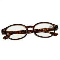 Tortoise Holmes Readers with Plaid Pouch (4 asstd). Product Image