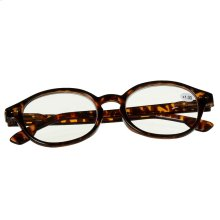 Tortoise Holmes Readers with Plaid Pouch (4 asstd).