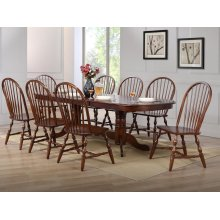DLU-ADW4296-C30-CT9PC  9 Piece Double Pedestal Extendable Dining Set