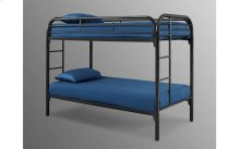 Edison Black Twin over Twin Metal Bunk Bed
