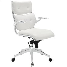 Push Mid Back Office Chair in White