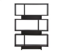 - Five tier bookcase finished in cappuccino- Constructed with MDF, particle board, and engineered veneer- Also available in white (#801406), weathered grey (#800554), and salvaged cabin (#800846)