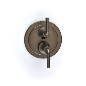 Dual Control Thermostatic with Volume Control Valve Trim River (series 17) Bronze