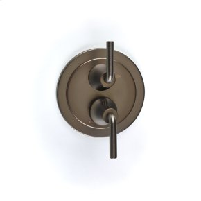 Dual Control Thermostatic with Volume Control Valve Trim River (series 17) Bronze