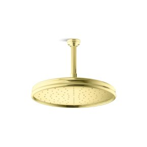 Air-Induction Large Traditional Raindome - Unlacquered Brass