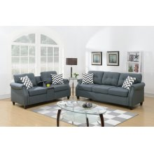 F6411 / Cat.19.p41- 2PCS SOFA SET BLUE GREY