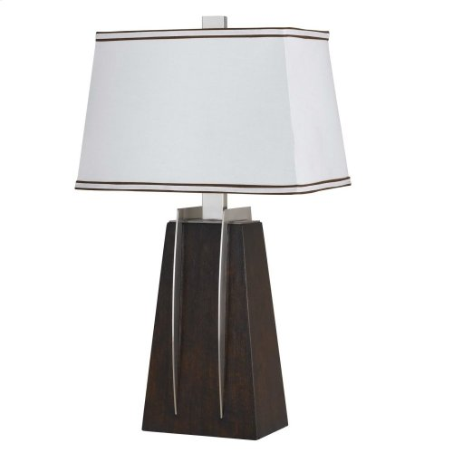 150W 3 Way Pyramid Resin Table Lamp