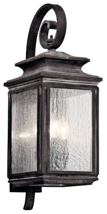 "Wiscombe Park 26.25"" 4 Light Wall Light Weathered Zinc"