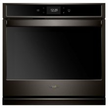 Whirlpool® 4.3 cu. ft. Smart Single Wall Oven with True Convection Cooking - Black Stainless
