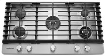 36'' 5-Burner Gas Cooktop with Griddle - Stainless Steel (Clearance Sale Store: Owensboro only)
