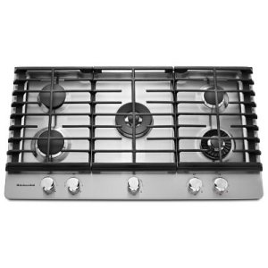 KITCHENAID36'' 5-Burner Gas Cooktop with Griddle - Stainless Steel