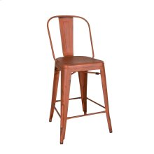Bow Back Counter Chair - Orange (RTA)