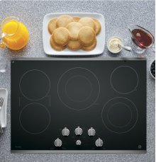 """GE Profile 30"""" Electric Cooktop with Built-In Knob Control"""