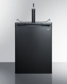 Built-in Residential Beer Dispenser, Auto Defrost With Digital Thermostat and Black Exterior Finish