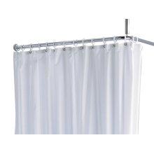 Shower curtain PLAN uni - white/8 eyelets