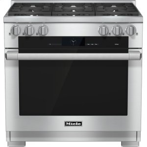 Miele Hr 1934-2 Lp - 36 Inch Range Dual Fuel With M Touch Controls, Moisture Plus And M Pro Dual Stacked Burners