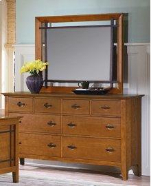 Franklin Heights Drawer Dresser & Frame Mirror