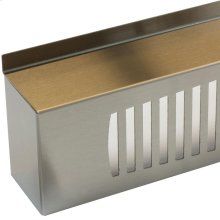 """24"""" Stainless Steel Decorative Grill for Universal Stacking Kit - Left Hinge"""